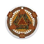 Celtic Pyramid Mandala Ornament (Round)