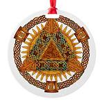Celtic Pyramid Mandala Round Ornament
