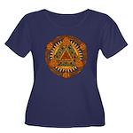 Celtic P Women's Plus Size Scoop Neck Dark T-Shirt