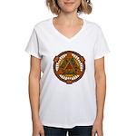 Celtic Pyramid Mandala Women's V-Neck T-Shirt