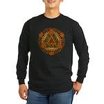Celtic Pyramid Mandala Long Sleeve Dark T-Shirt