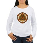 Celtic Pyramid Mandala Women's Long Sleeve T-Shirt