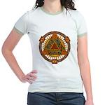 Celtic Pyramid Mandala Jr. Ringer T-Shirt