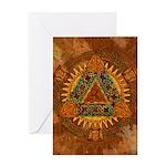 Celtic Pyramid Mandala Greeting Card