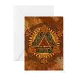 Celtic Pyramid Mandala Greeting Cards (Pk of 10)