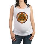 Celtic Pyramid Mandala Maternity Tank Top
