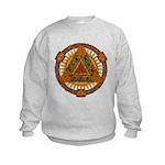 Celtic Pyramid Mandala Kids Sweatshirt