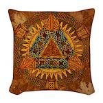Celtic Pyramid Mandala Woven Throw Pillow