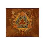 Celtic Pyramid Mandala Throw Blanket