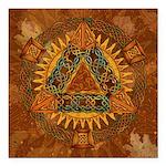 Celtic Pyramid Mandala Square Car Magnet 3