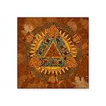Celtic Pyramid Mandala Square Sticker 3