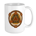 Celtic Pyramid Mandala Large Mug