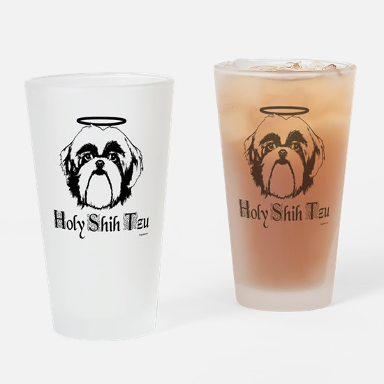 Holy Shih Tzu Drinking Glass