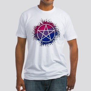 Bisexual Pride Pentacle Fitted T-Shirt