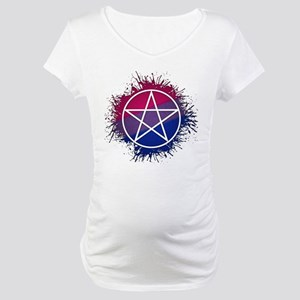 Bisexual Pride Pentacle Maternity T-Shirt