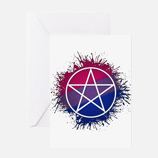 Bisexual Pride Pentacle Greeting Card