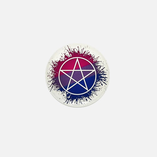 Bisexual Pride Pentacle Mini Button