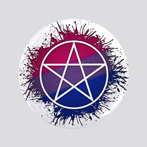 """Bisexual Pride Pentacle 3.5"""" Button"""