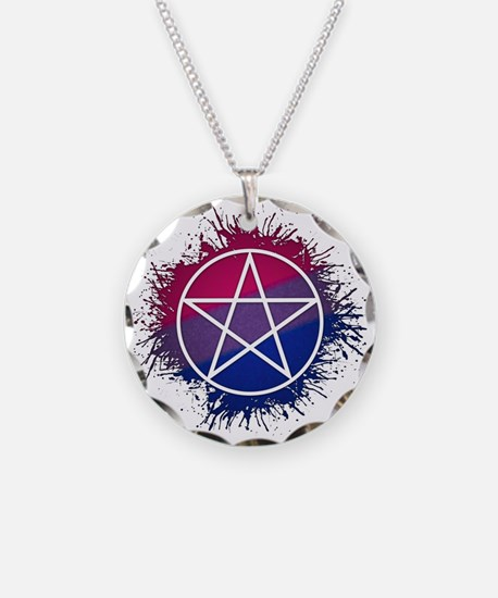 Bisexual Pride Pentacle Necklace