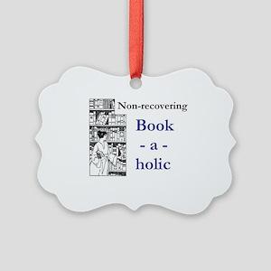 Non-recovering Book-a-holic Picture Ornament