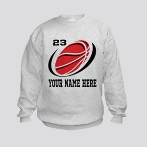 Personalized Basketball For Kids Sweatshirt