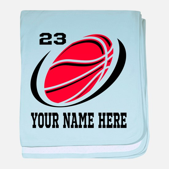 Personalized basketball baby blanket