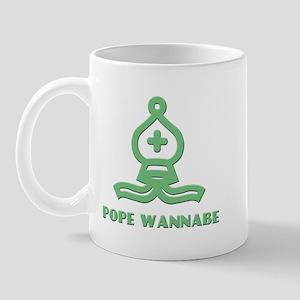 Pope Wannabe 1 (green) Mug