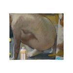 Degas: The tub nowadays Throw Blanket