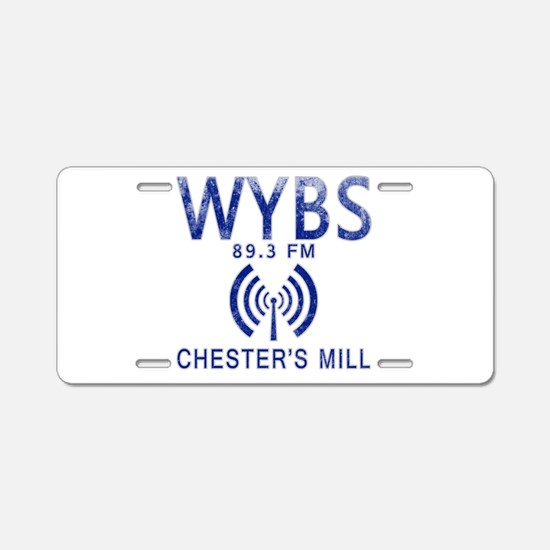 WYBS Radio Under the Dome Aluminum License Plate