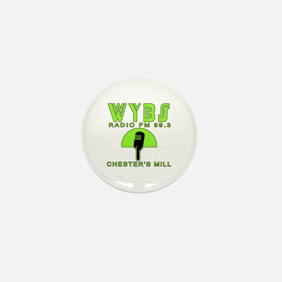 WYBS FM Under the Dome Mini Button