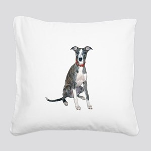 Whippet #1 Square Canvas Pillow
