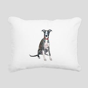 Whippet #1 Rectangular Canvas Pillow