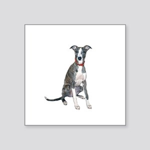 "Whippet #1 Square Sticker 3"" x 3"""