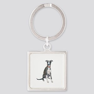 Whippet #1 Square Keychain