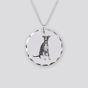 Whippet #1 Necklace Circle Charm