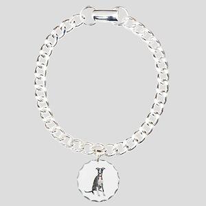Whippet #1 Charm Bracelet, One Charm