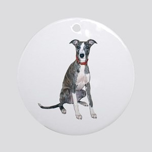 Whippet #1 Ornament (Round)