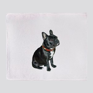 French Bulldog (blk2) Throw Blanket