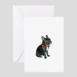 French Bulldog (blk2) Greeting Card