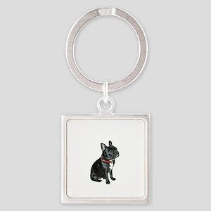 French Bulldog (blk2) Square Keychain