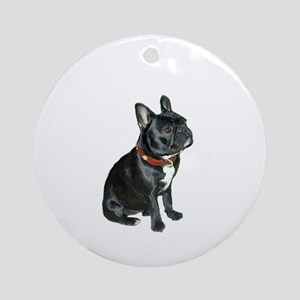 French Bulldog (blk2) Ornament (Round)