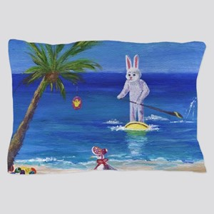 E Bunny at the Beach Pillow Case