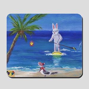 E Bunny at the Beach Mousepad