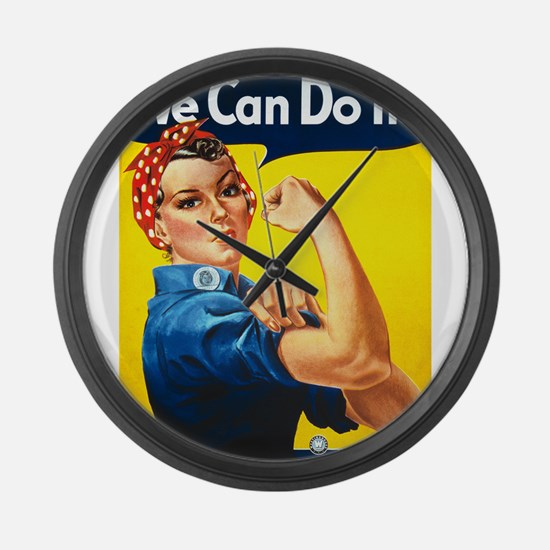 We Can Do It, Rosie the Riveter Large Wall Clock