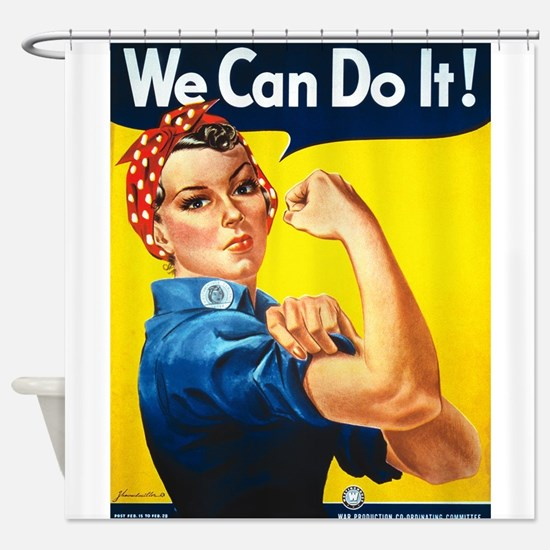 We Can Do It, Rosie the Riveter Shower Curtain