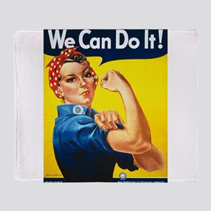 We Can Do It, Rosie the Riveter Throw Blanket