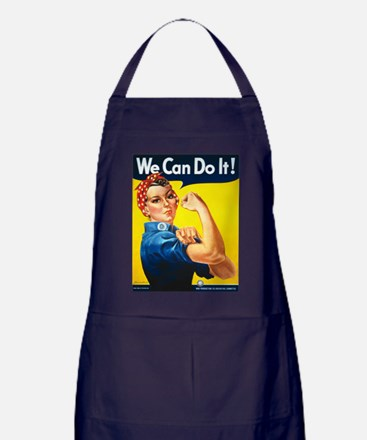 We Can Do It, Rosie the Riveter Apron (dark)