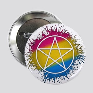 """Pansexual Pride Pentacle 2.25"""" Button"""