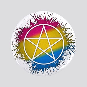 "Pansexual Pride Pentacle 3.5"" Button"