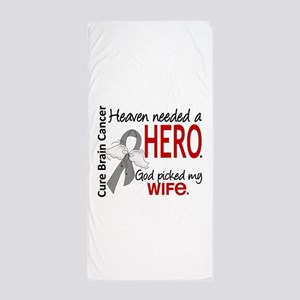 Brain Cancer Heaven Needed Hero 1.1 Beach Towel
